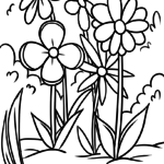 Coloring page flower meadow | plants