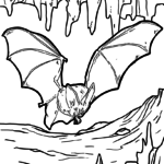Malvorlage Fledermaus | Tiere