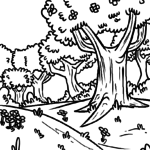 Coloring page Spring seasons