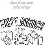 Malvorlage / Ausmalbild Happy Birthday