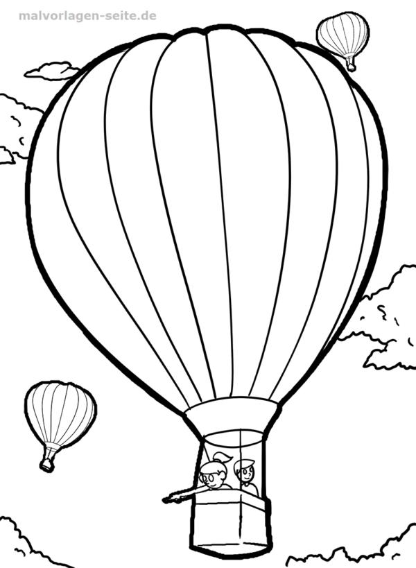 Dibujo para colorear globo de aire caliente | Páginas para colorear ...