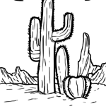Coloring page cactus