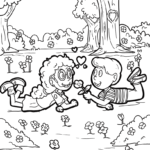 Coloring page In Love | love