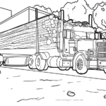 Coloring page vice with wood | vehicles