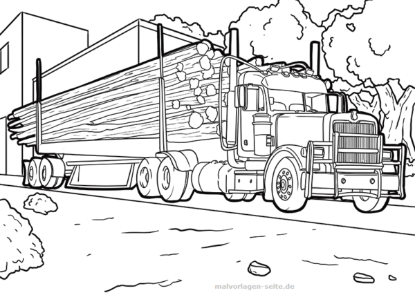 Coloring Page Vice With Wood Vehicles Free Coloring Pages