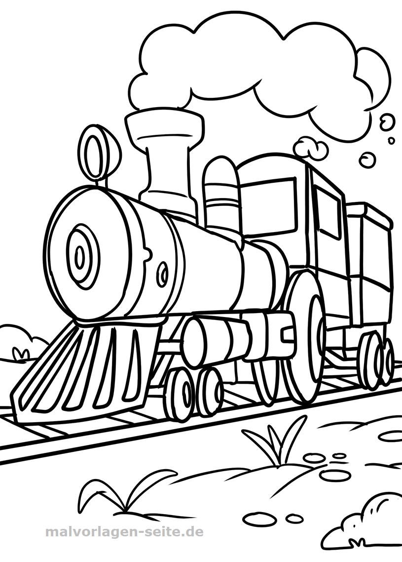 Malvorlage Lokomotive | Gratis Malvorlagen zum Download