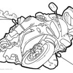 Livre de coloriage moto motos