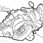 Coloring page motorcycle | vehicles