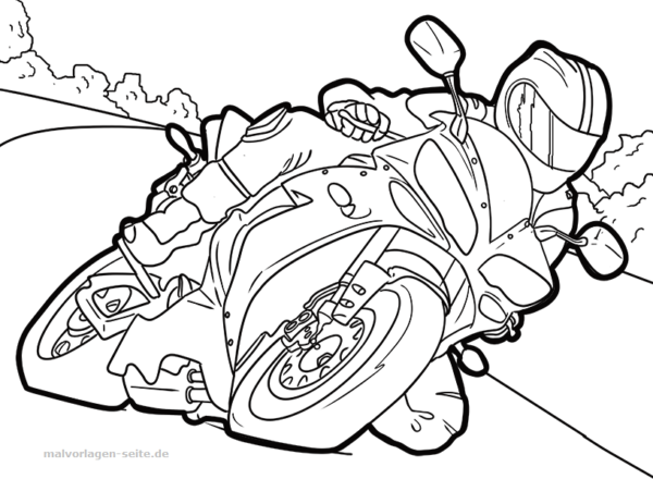 Coloring Page Motorcycle Free Coloring Pages For Download