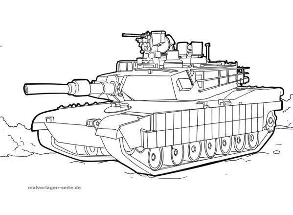 Malvorlage / Ausmalbild Panzer