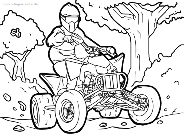 Coloriage quad