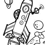 Coloring page rocket | space