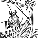 Coloring page Vikings
