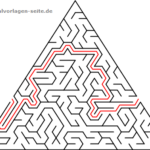Labyrinths / maze for kids triangles