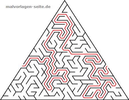 labyrinth-dreieck-einfach-8-loesung | gratis malvorlagen zum download