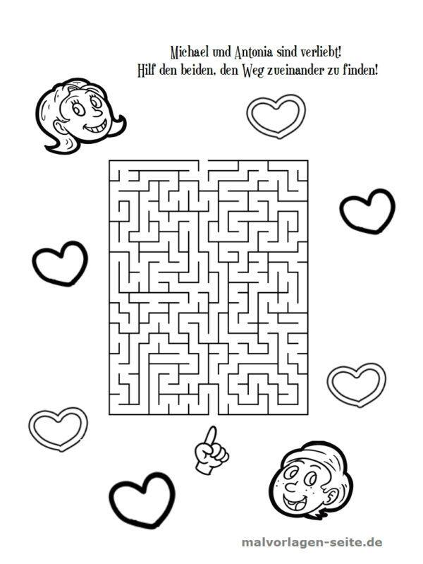 Maze Maze for Children | Free coloring pages for download