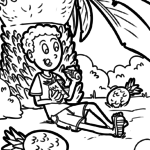 Coloring page Ananas