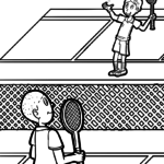 Malvorlage Badminton | Sport