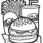 Ausmalbilder Essen und Trinken