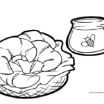 Bojanje stranice kroasan | jesti