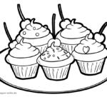 Malvorlage Cupcakes | Essen