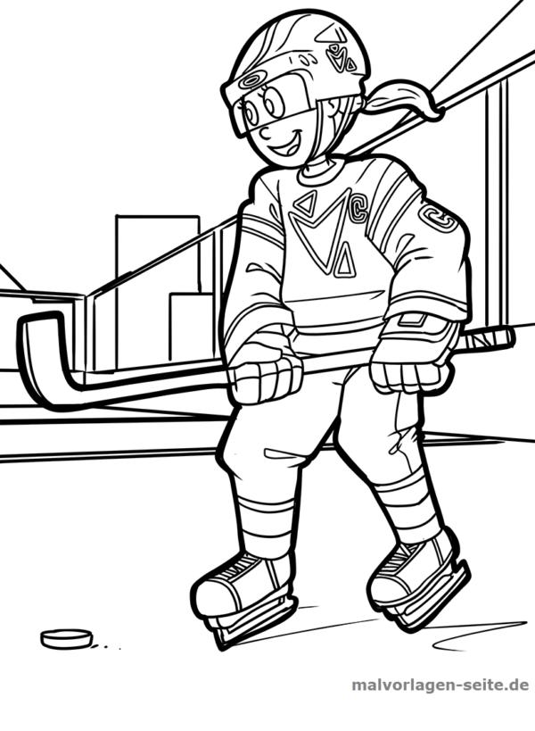 Malvorlage / Ausmalbild Eishockey