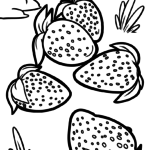 Malvorlage Erdbeeren | Obst