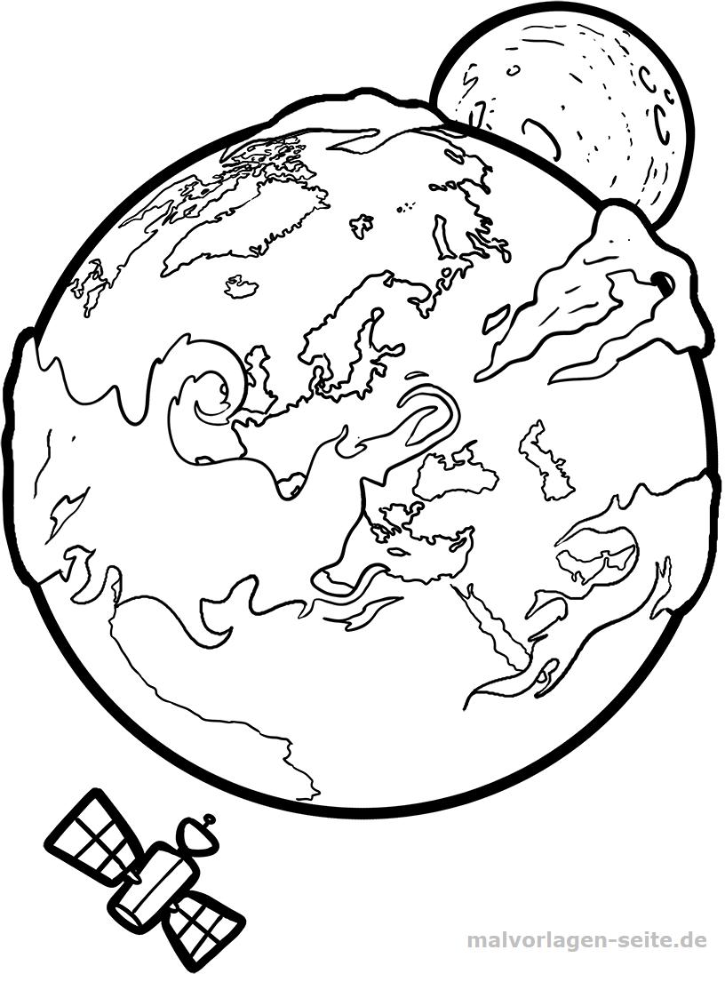 Malvorlage Erde Gratis Malvorlagen Zum Download