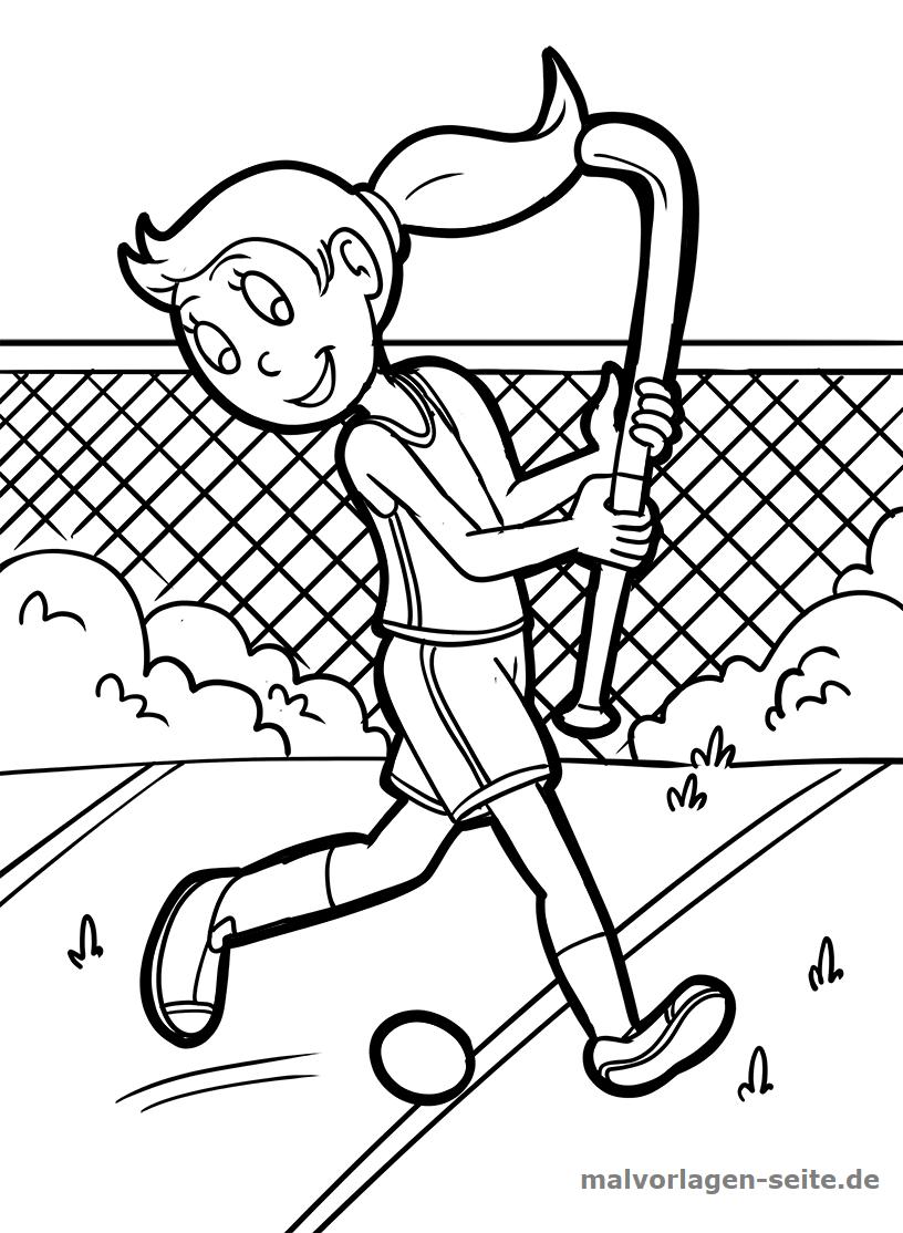 Malvorlage Hockey Feldhockey | Gratis Malvorlagen zum Download