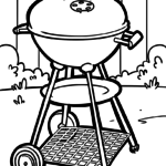 Coloring page Grill | household