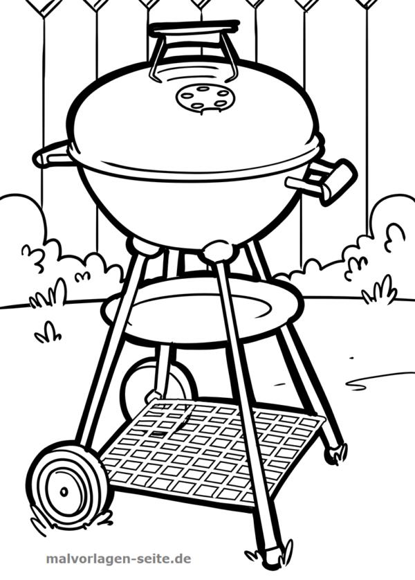 Malvorlage Grill