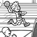 Coloriage handball à colorier