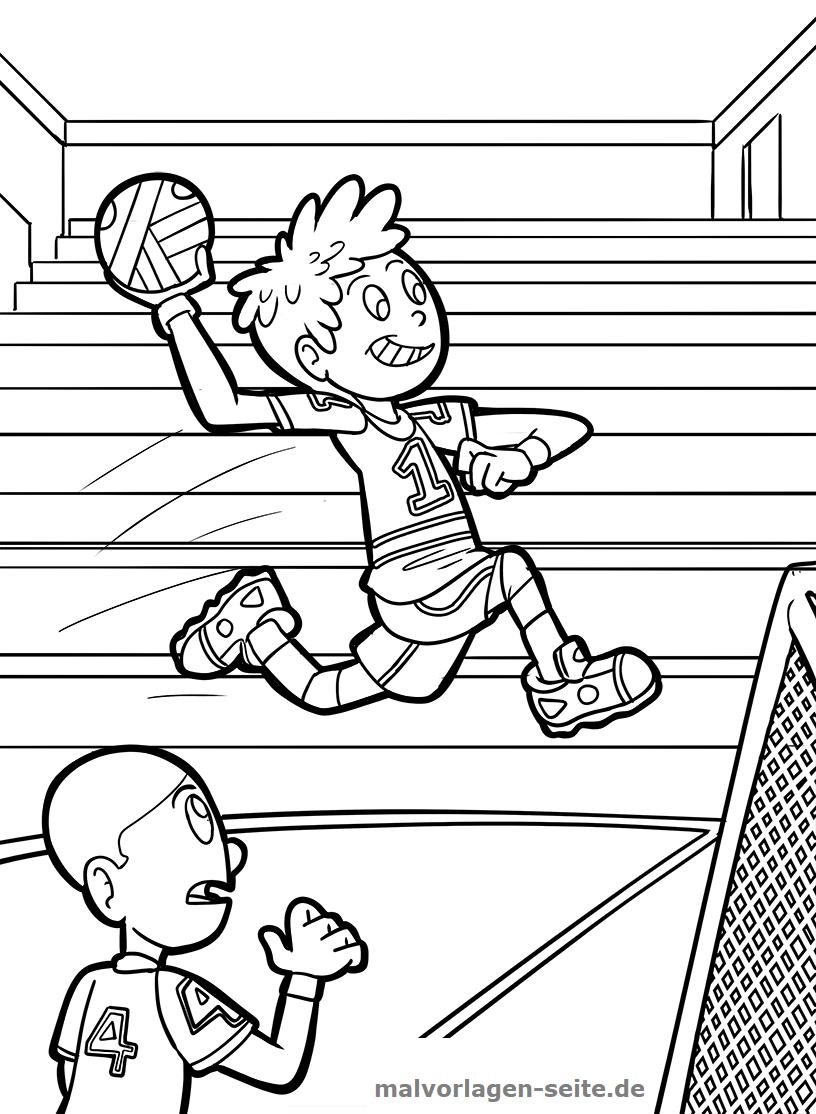 Malvorlage Handball | Gratis Malvorlagen zum Download