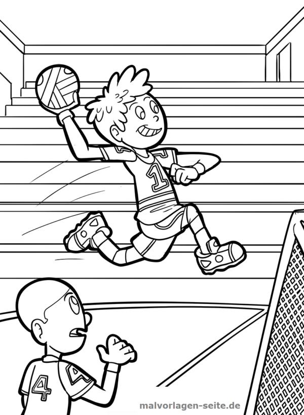 Malvorlage Handball