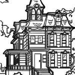 Coloring page house Victorian | building