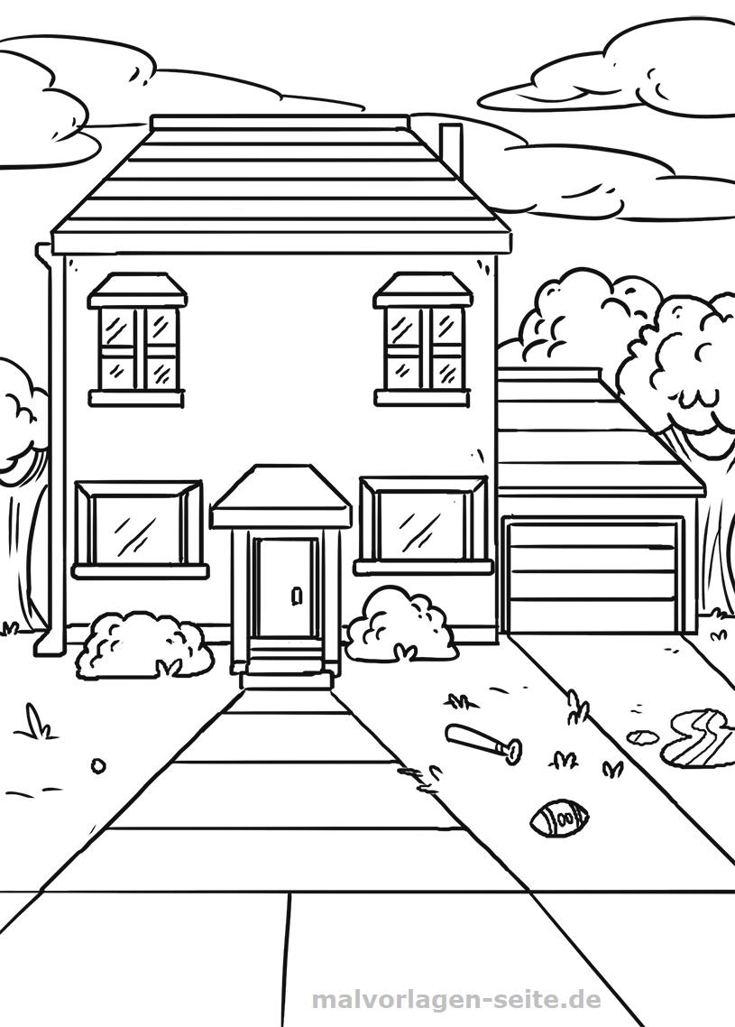 Malvorlage Haus Gebäude