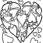 Coloring page heart of hearts | symbol