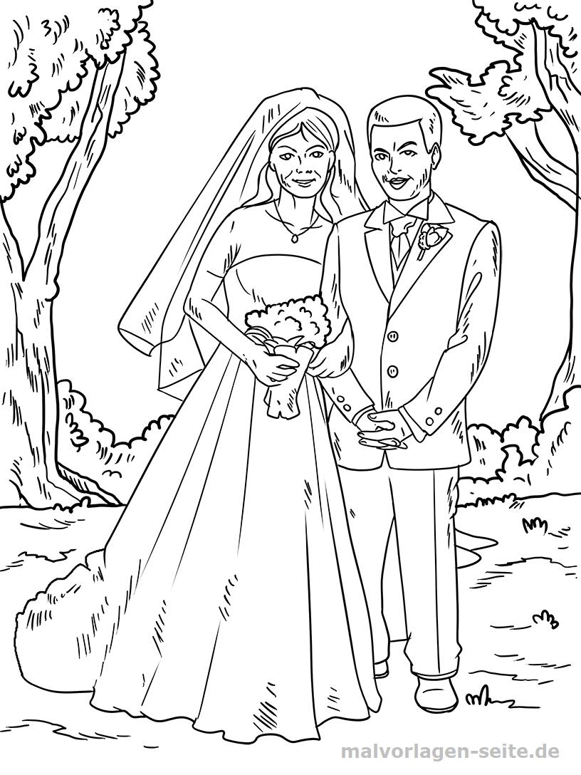 Malvorlage Hochzeit | Gratis Malvorlagen zum Download