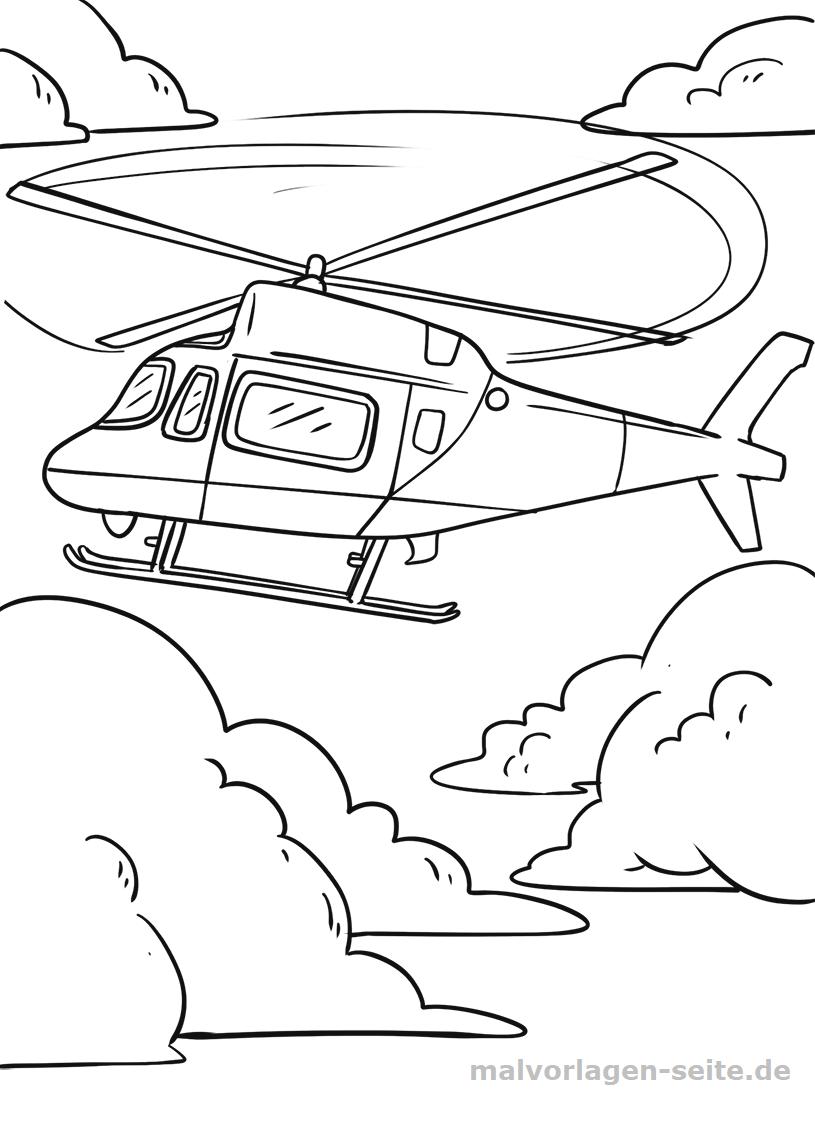 Malvorlage Hubschrauber | Gratis Malvorlagen zum Download