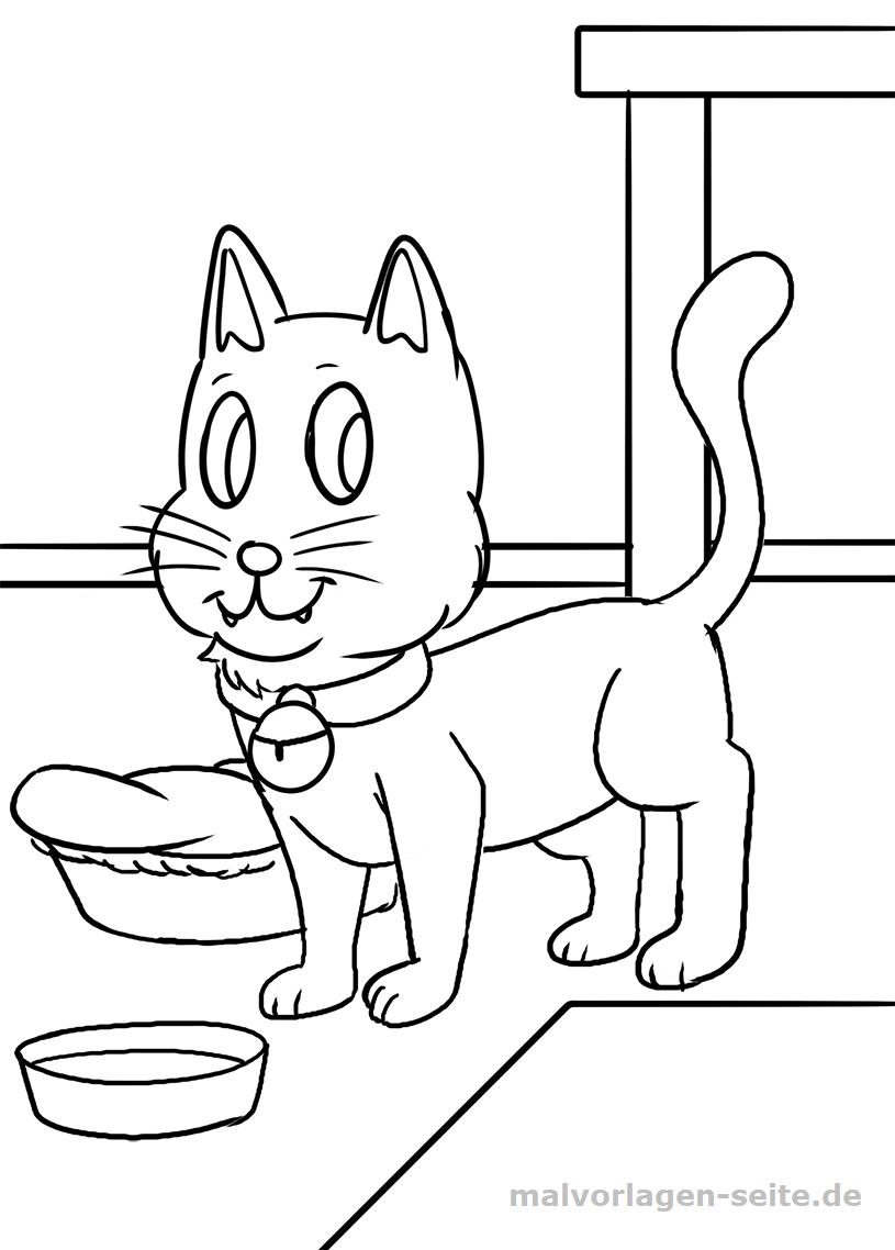 Malvorlagen Katzen Für Kinder Kostenlos Ausdrucken