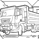 Coloring pages construction sites vehicles