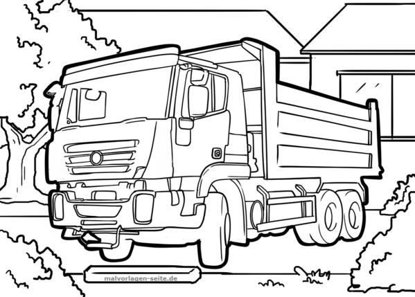 Malvorlage Kipplaster Fahrzeuge