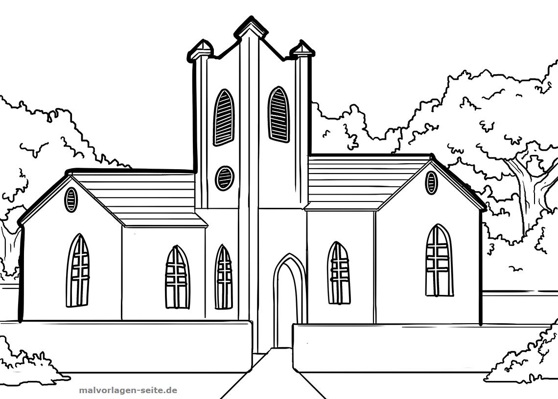 Malvorlagen und Ausmalbilder von Gebäuden und Häusern