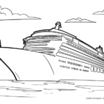 Coloring page cruise ship