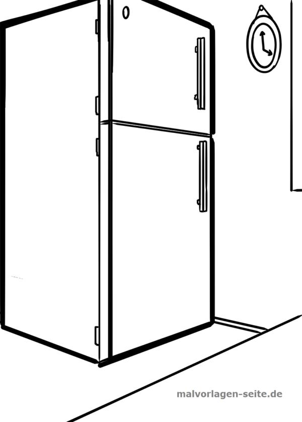 Malvorlage / Ausmalbild Kühlschrank