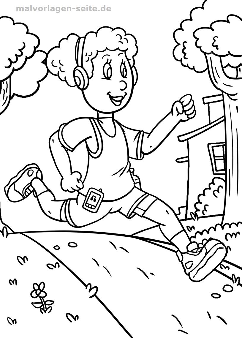 Malvorlage Laufen | Gratis Malvorlagen zum Download