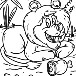 Lion coloring pages Wild animals