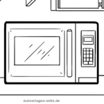 Coloring page Microwave | household