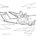 Coloring page military plane | vehicles