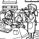 Coloring page cooking | Food family